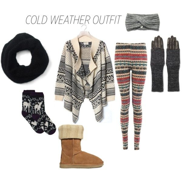"""""""cold weather outfit"""" by leannab on Polyvore"""