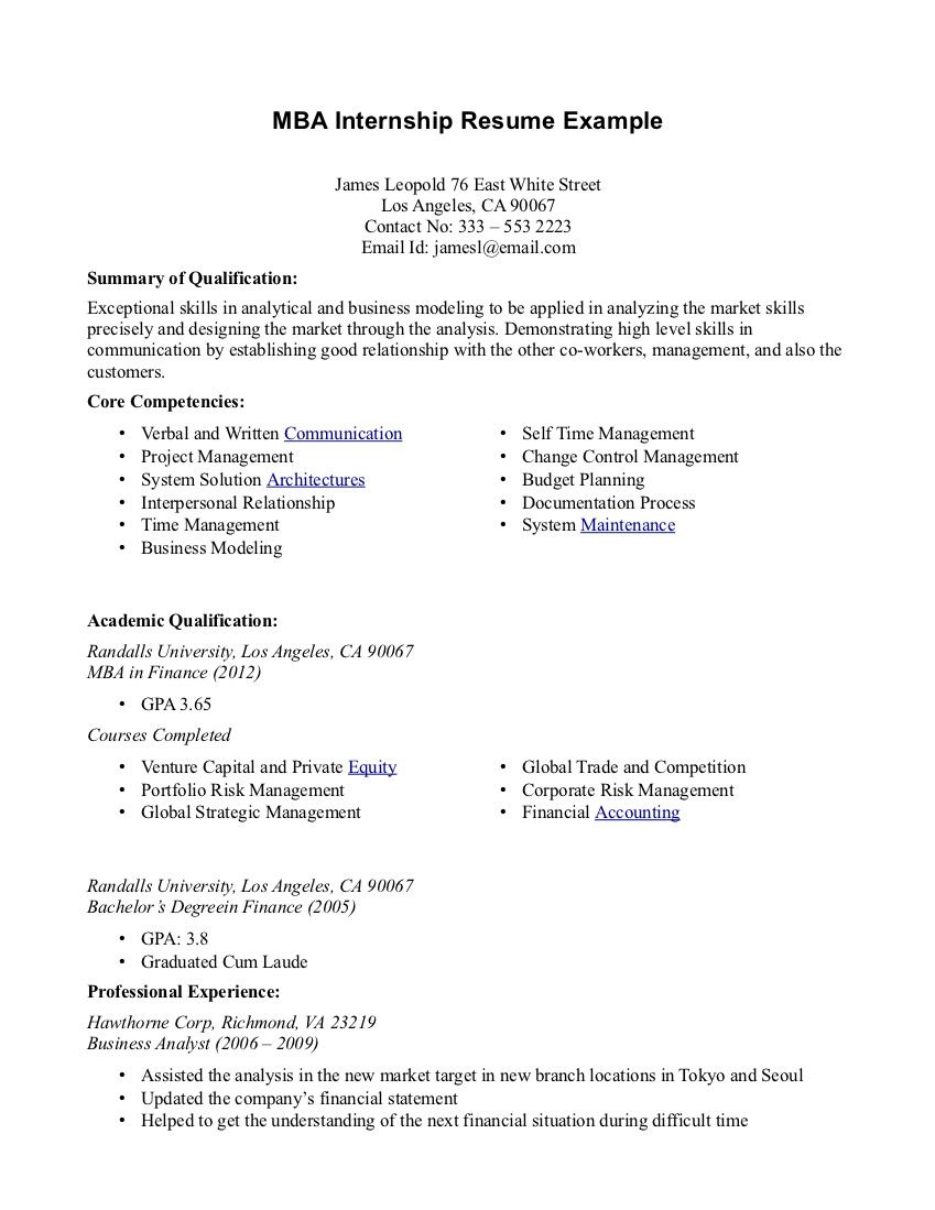 Best Resume Objectives Internship Resume Examplestop 10 Resume Objective Examples And