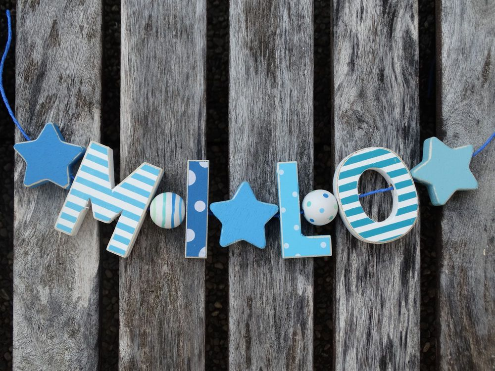 Details Zu Milo Wooden Letters Letter Door Name Baby Shower
