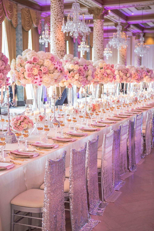 Wedding Ideas : Long Reception Tables | Shan Tanya wedding ...