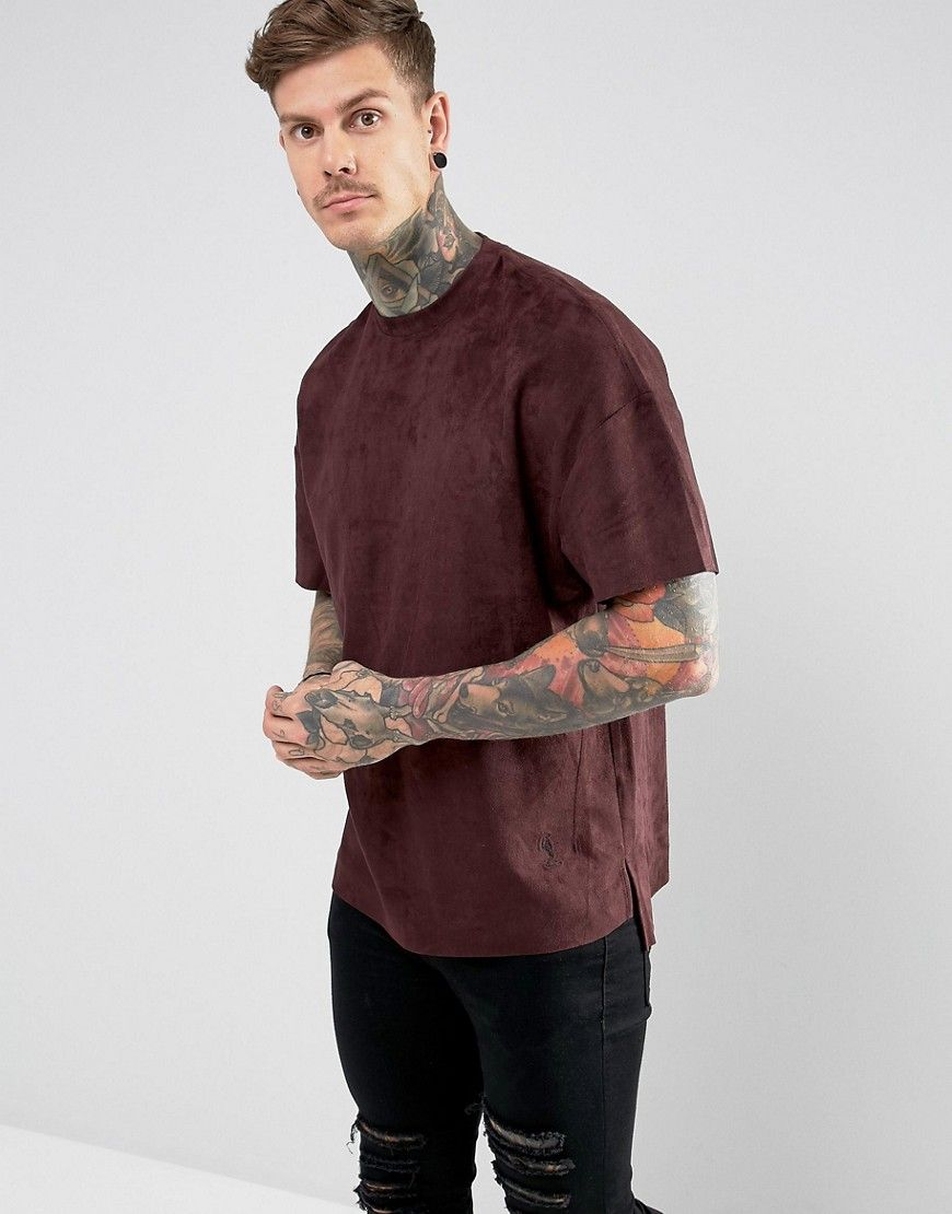 d239e829f Religion T-Shirt In Faux Suede With Step Hem | Inspiration | Fashion ...