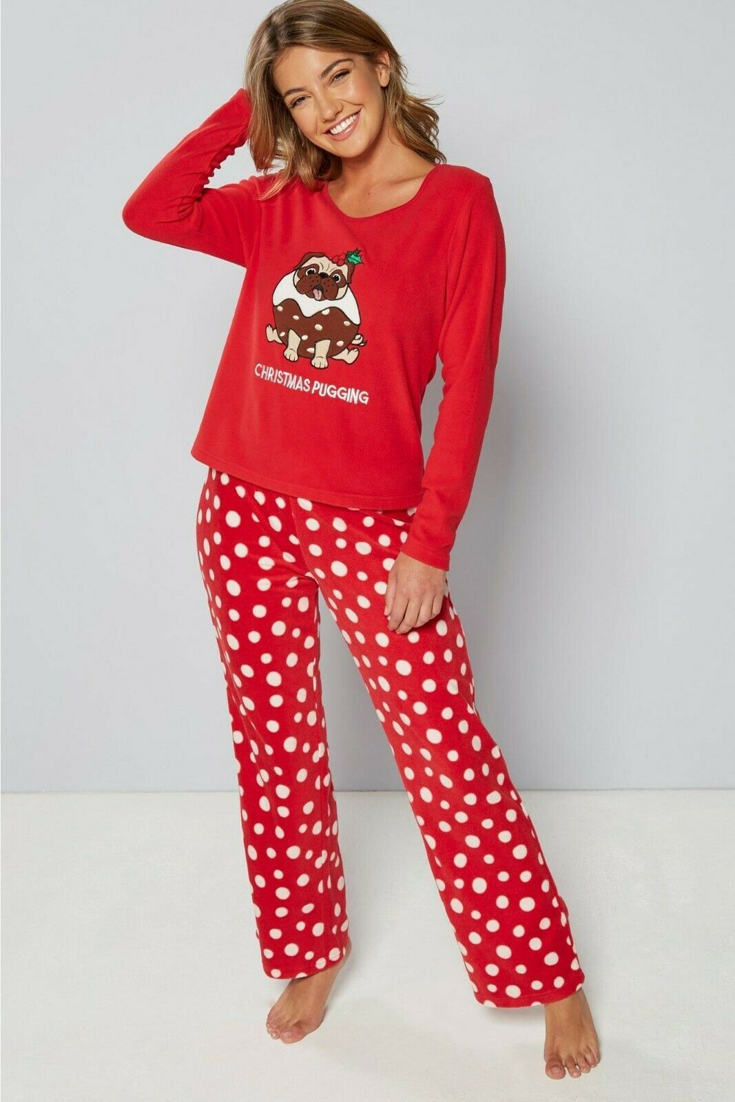 LADIES PUG CHRISTMAS PJS LIMITED STOCK! Available at www