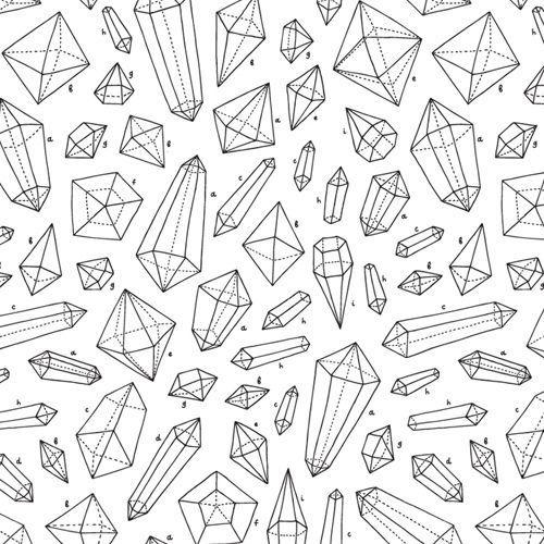 Kristalle 1133 Geometrisches muster Musterdruck Kristalle