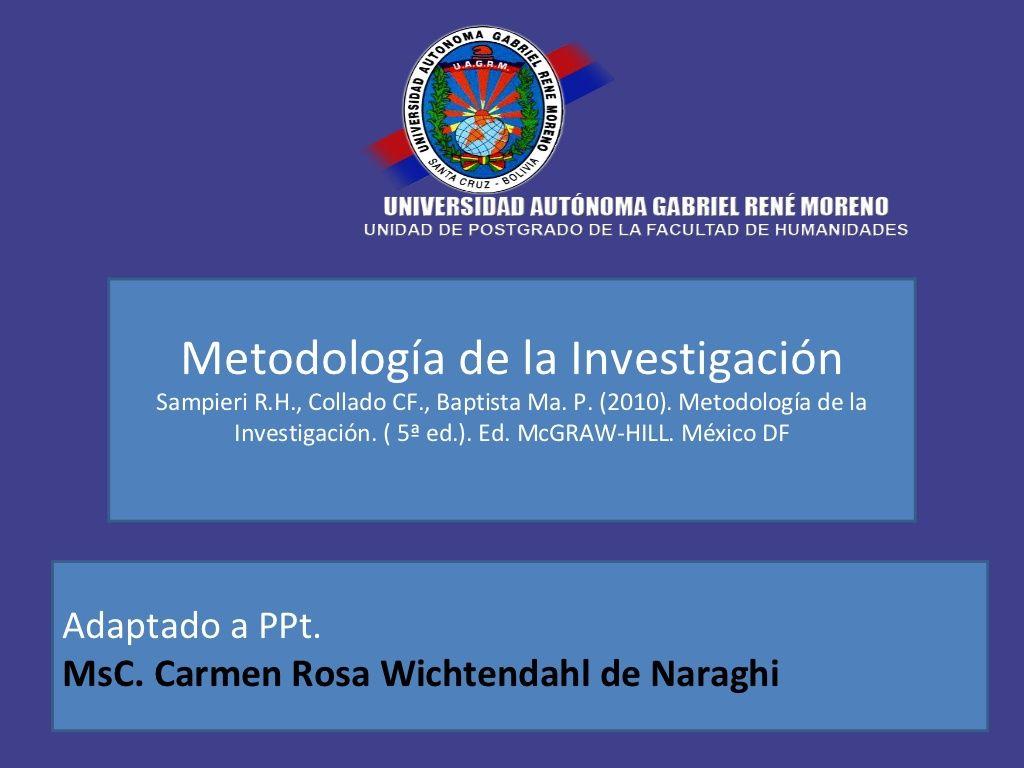 sampieri metodologia dela investigacion pdf