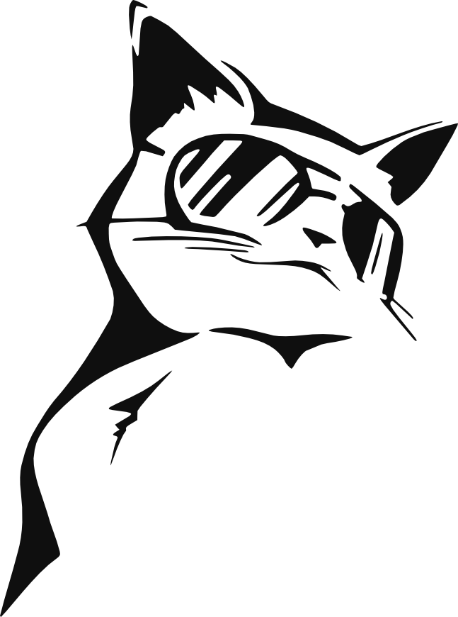 Stencil Coolcat By 7eddy On Deviantart Art Cool Cats Cat
