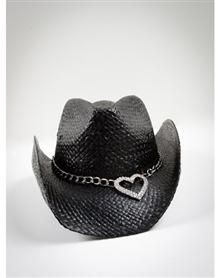 heart black cowboy hat  i love hats for me  my cats