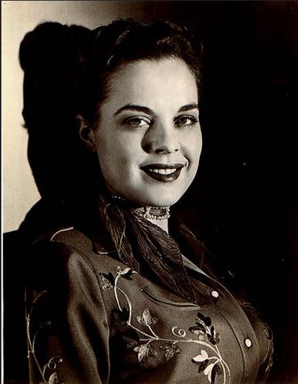 Goldie Hill, San Antonio, Texas, early 1950′s