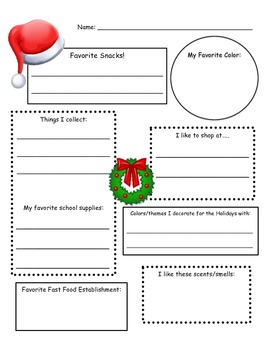 graphic regarding Printable Secret Santa List Questions titled Mystery Santa Information and facts Sheet Do it yourself Magic formula santa present swap