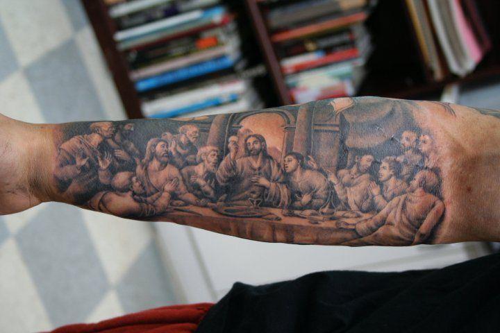 last supper lol tattoos hand tattoos jesus tattoo