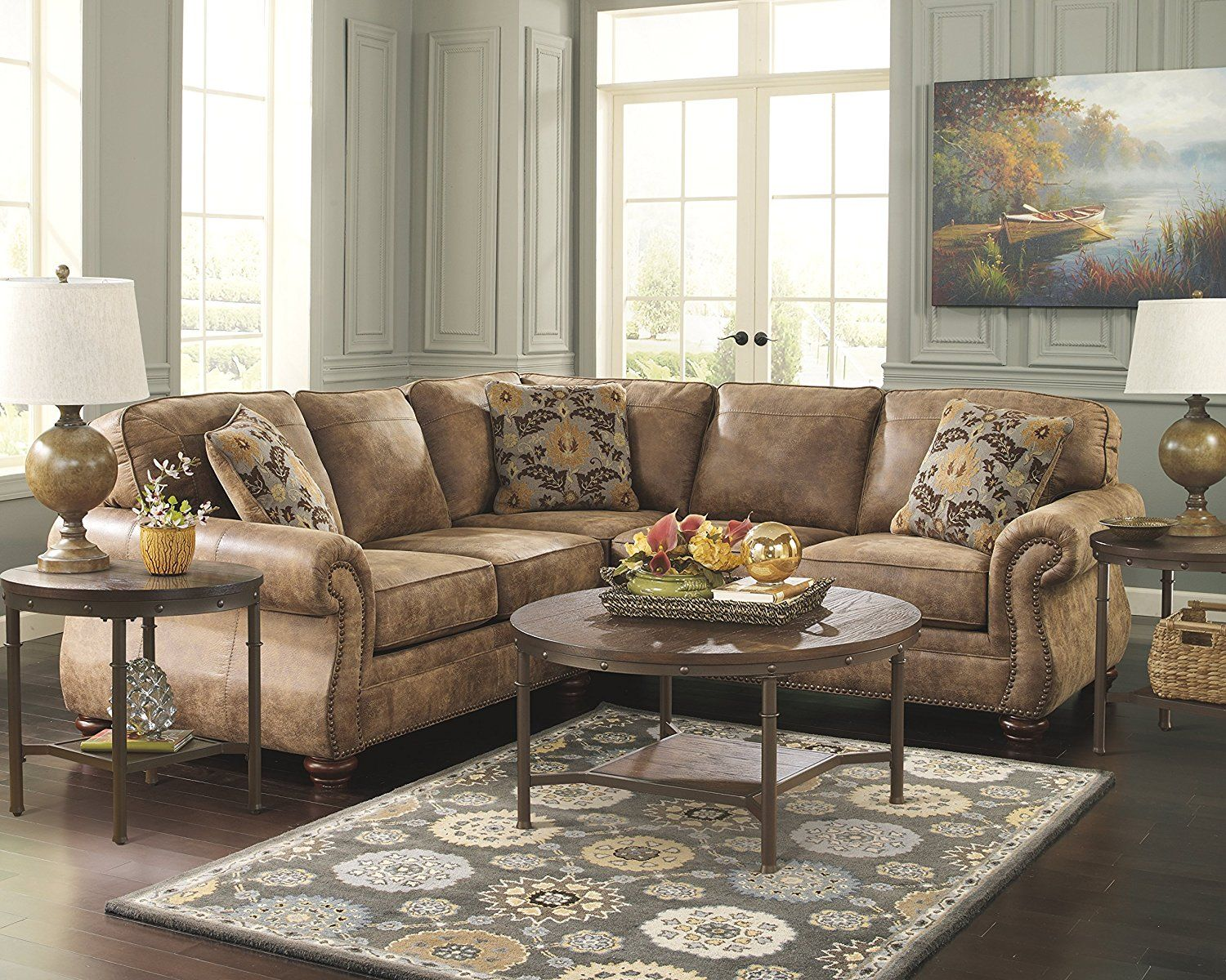 Ashley Furniture Signature Design Sandling Occasional Table Set End Tables And Coffee Table 3 Piece Roun Furniture Living Room Remodel Ashley Furniture