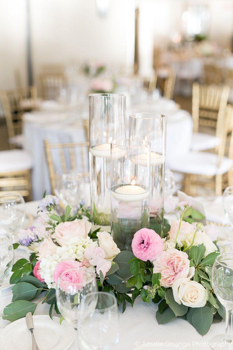 Wedding Reception Centerpiece Is A Trio