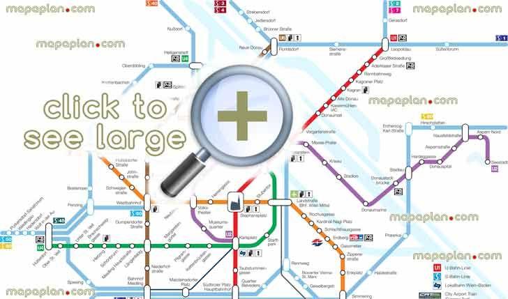 vienna u bahn metro tube underground subway stations zones marked