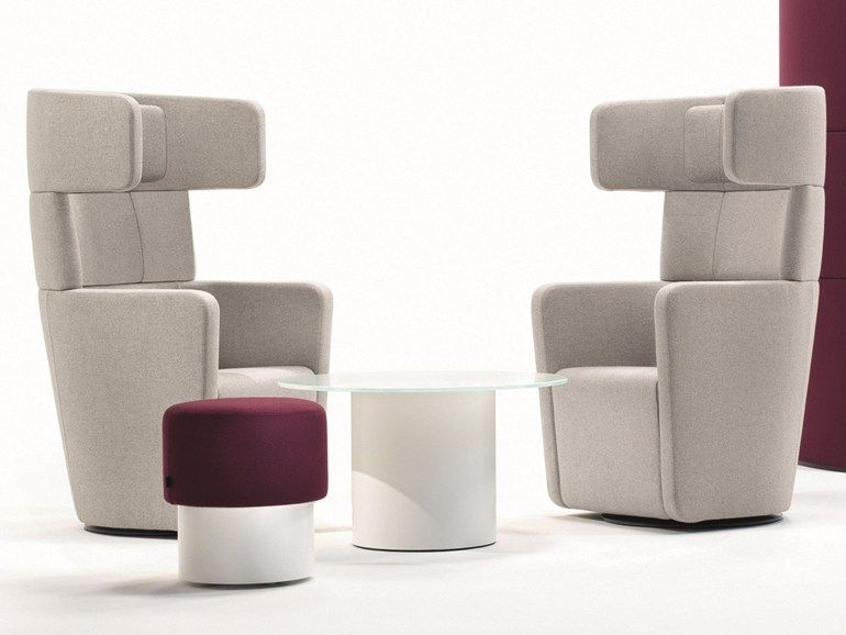 High-back wingchair PARCS Wing Chair by BENE | design PearsonLloyd