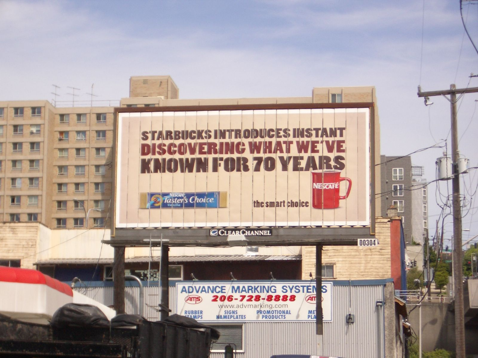 Outdoor Large City Billboard Google Search Advertising