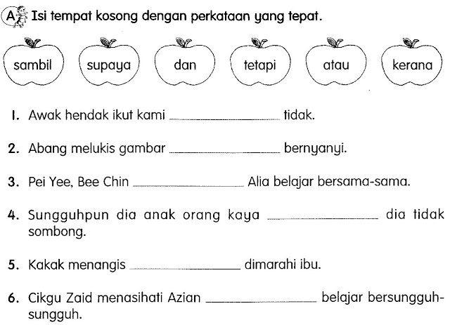 Bahasa Malaysia Tahun 3 Kata Hubung Body Preschool Grammar And Vocabulary School Activities