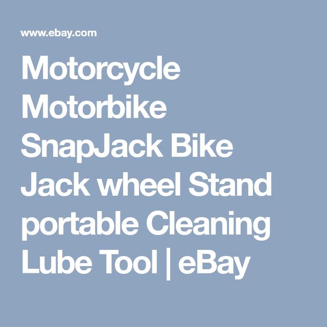 Motorcycle Motorbike Snapjack Bike Jack Wheel Stand Portable Cleaning Lube Tool Motorbikes Lube Motorcycle