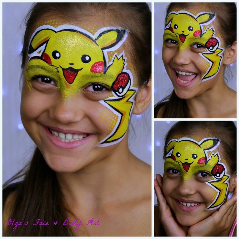 Pokemon Pikachu Schminken Ontwerpen Schminken Tutorials Schminken