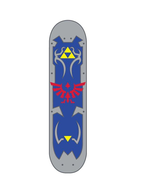 b358de2c03ae Zelda Skateboard by zeldagirninja   Skateboarding stuff   Skateboard ...