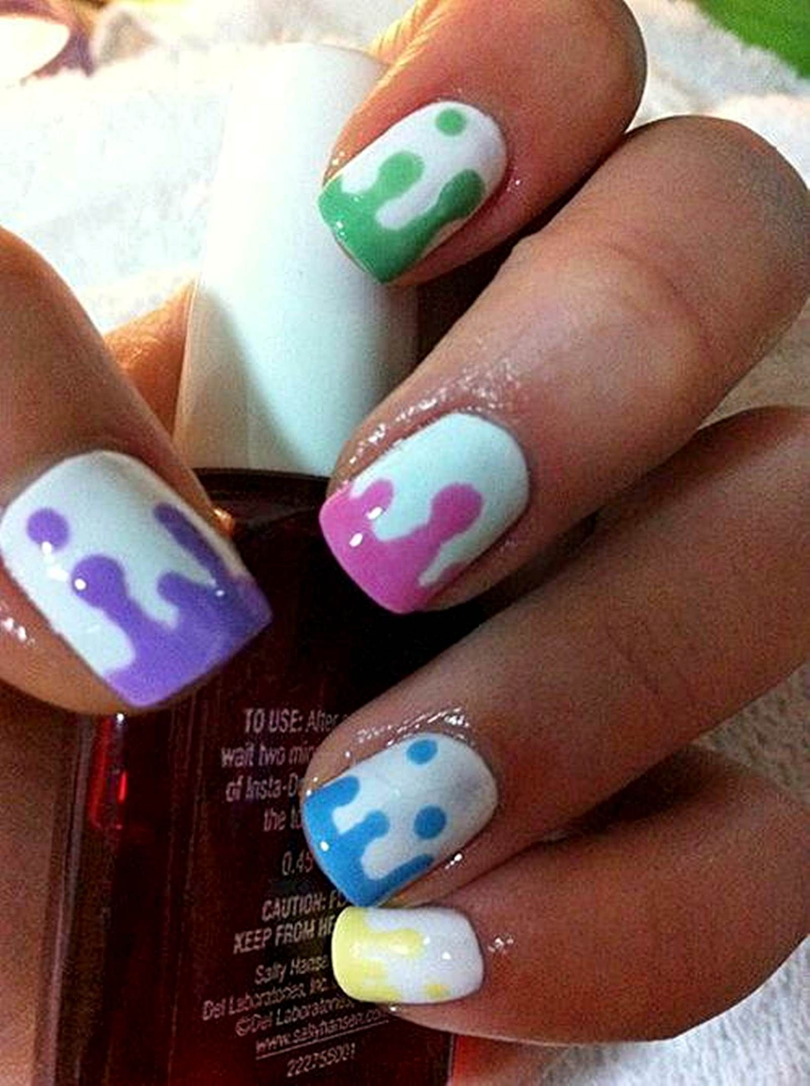 nice acrylic gel nail designs for short nails http ...