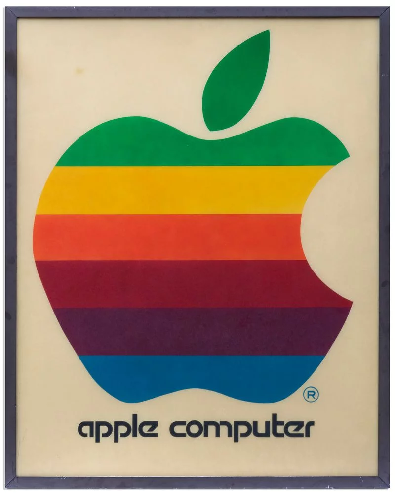 Original 1978 Apple Computer Retail Sign With Iconic