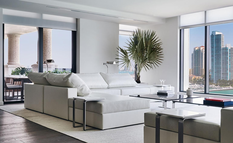 Bottega Veneta Decorates A Miami Beach Apartment With Its Latest Home Furnishings Miami Apartment Decor Miami Beach Apartment Home