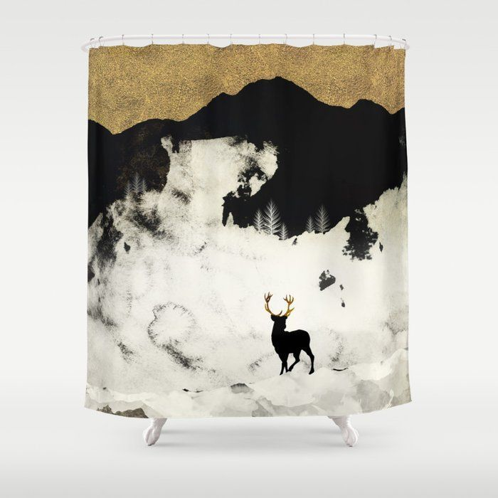 Winter Silence Shower Curtain by spacefrogdesigns Stop neglecting bathroom decor  this Shower Curtain brings a fresh new feel to an overlooked space Hookless and extra lo...