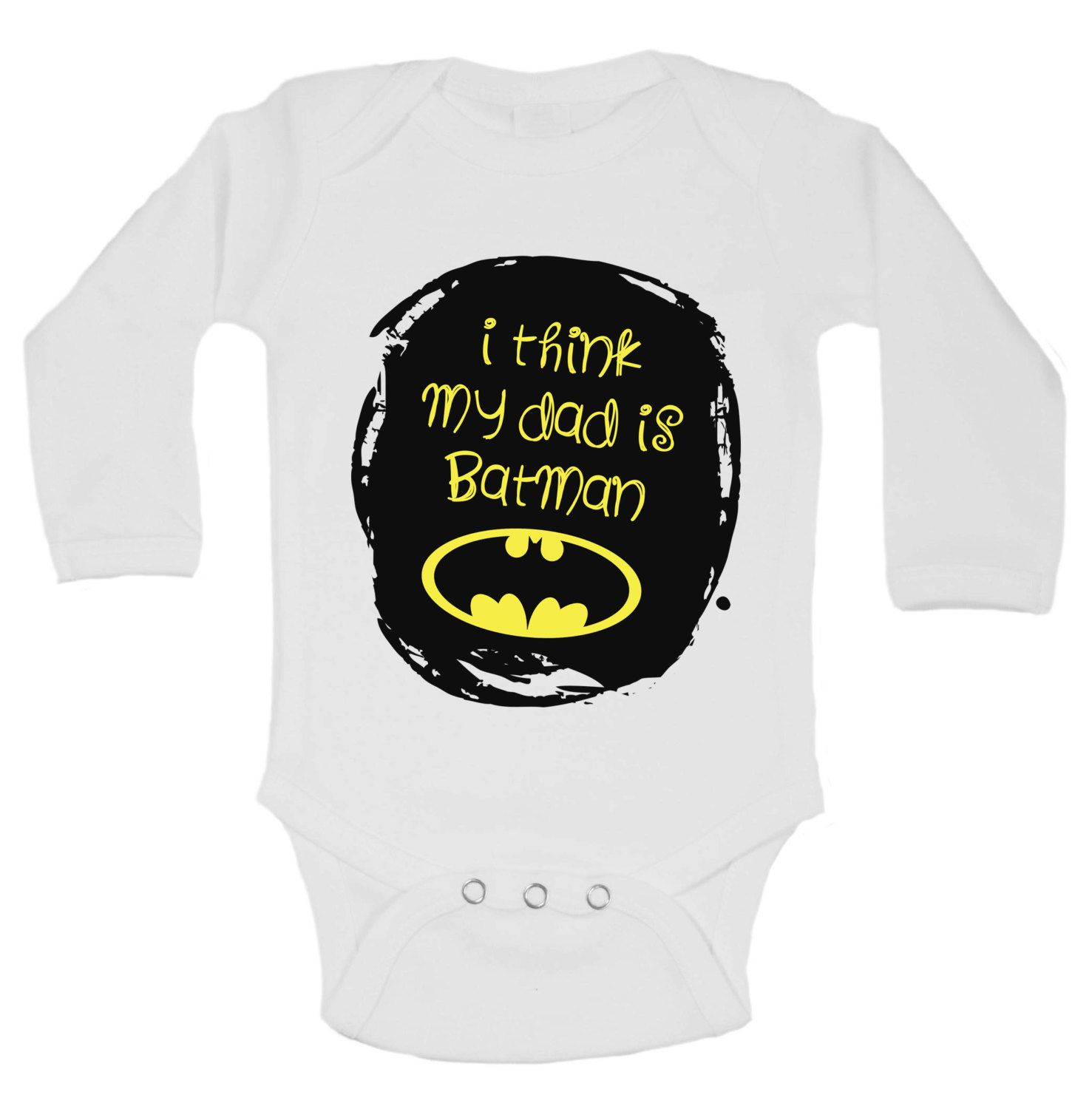 I Think My Dad is BATMAN Super cute new onesie design $13 99 FREE