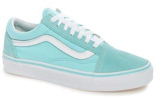 Vans Old Skool, Zapatillas Unisex Adulto, Verde (Biscay Green/True White), 36