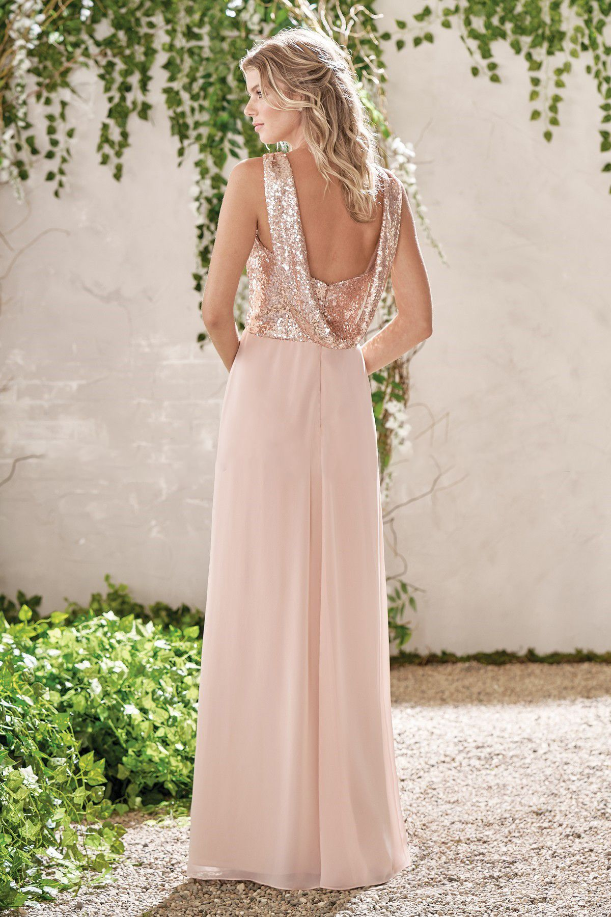 elegant brautjungfernkleider apricot lang chiffon kleider