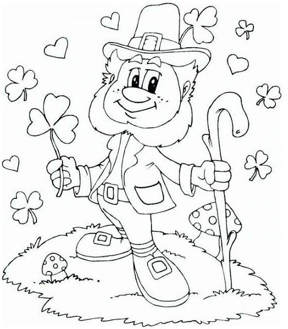 Leprechaun Fairy Of The Aos Si Coloring Sheet St Patricks Coloring Sheets Valentines Day Coloring Page Coloring Pages