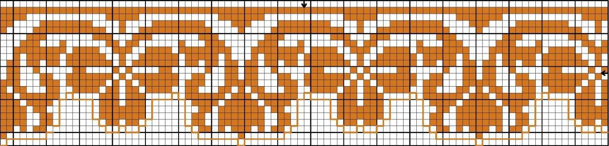 Border 82 | Free chart for cross-stitch, filet crochet | Chart for pattern - Gráfico