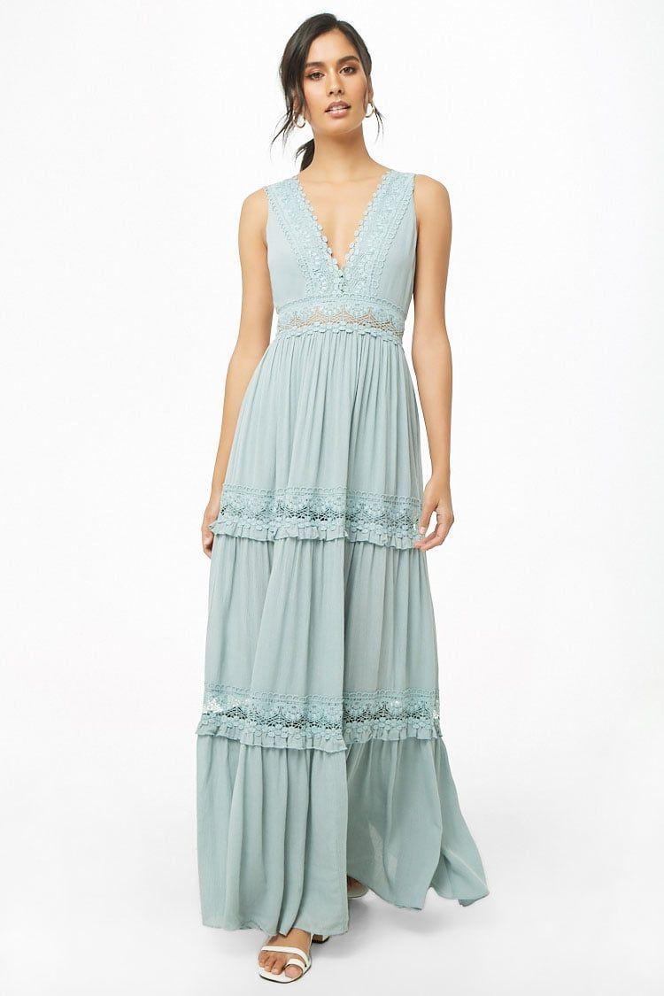 Crochet Trim Maxi Dress Forever 21 Dresses Nice Dresses Trendy Dresses Summer