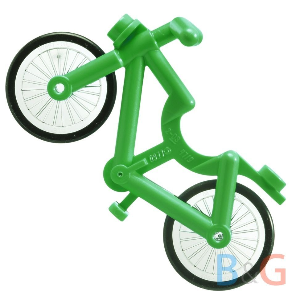 LEGO GREEN BIKE PIECE MINIFIG ACCESSORY TOWN BICYCLE