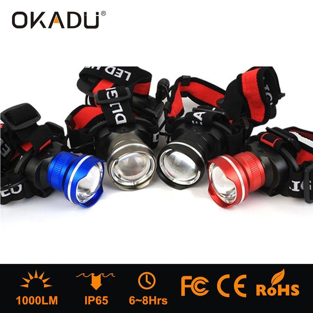 Ok Ht08 Led Headlamp Use Cree Xm L T6 Bulb Rechargeable High Power 5000 Lumens Black