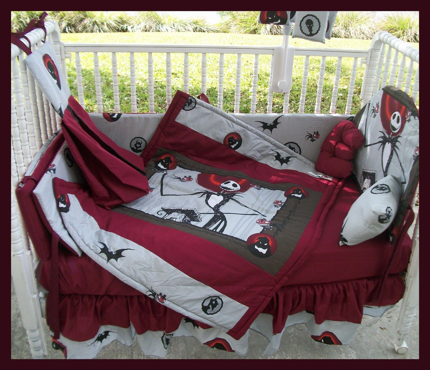 Custom made to order New NIGHTMARE BEFORE CHRISTMAS Crib Bedding ...