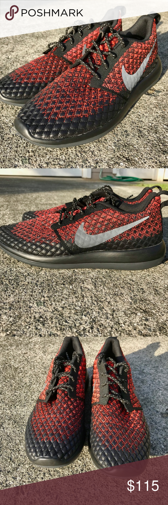 Nike Roshe Two Flyknit 365 Lifestyle Shoe The Popular Nike Roshe Two Stylized In Crimson And Black Style Code 859535 Nike Roshe Two Black Nike Shoes Shoes