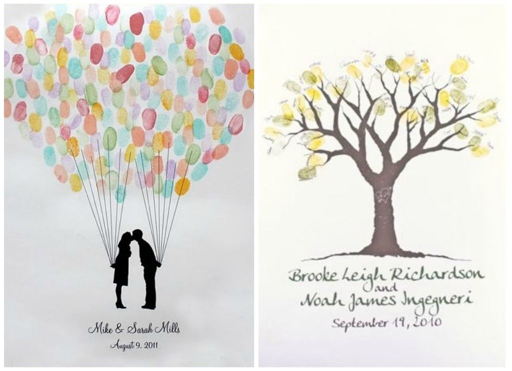 More Fingerprint Guest Book Ideas Wedding Quotes Sayings Pinterest