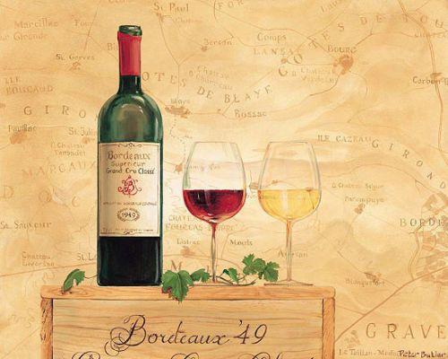 Details zu Peter Butler Bordeaux Wein Fertig-Bild 24x30 Wandbild - wandbilder für die küche