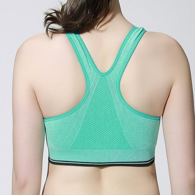 07e47e63594 Sexy Zipper Front Yoga Sport Bras Women Fitness Vest Push-up Yoga Bra for  Running