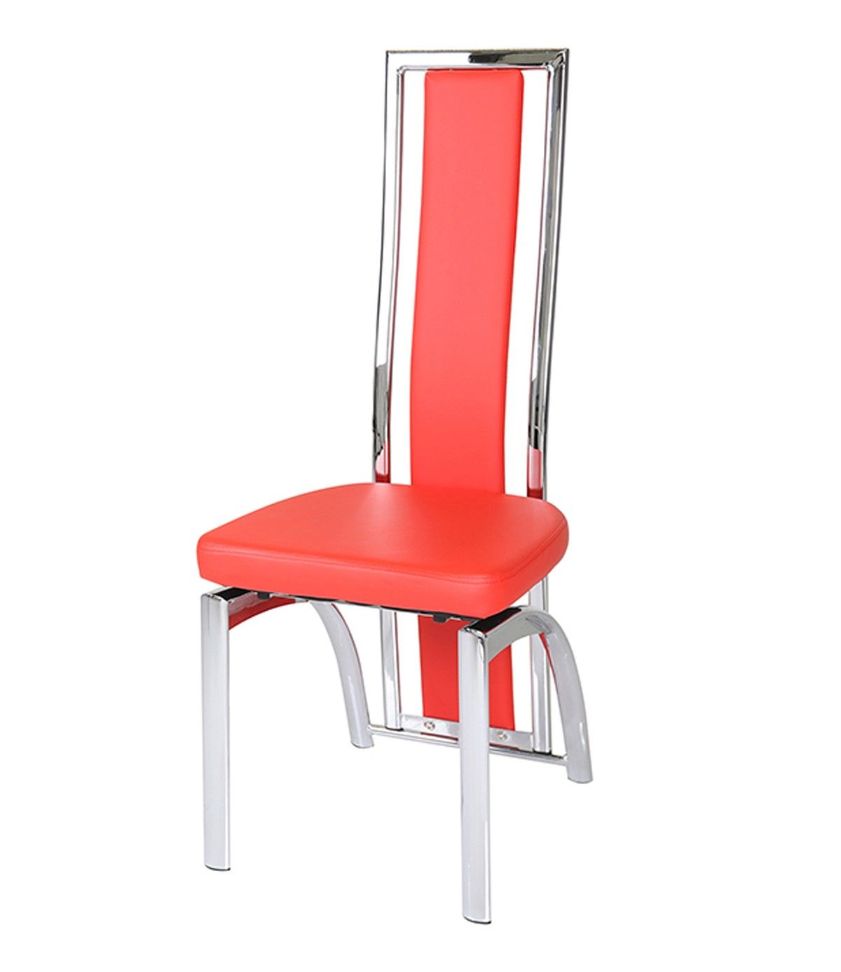 Wondrous Mayfair High Back Faux Leather And Chrome Red Dining Chair Gmtry Best Dining Table And Chair Ideas Images Gmtryco