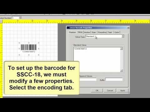 Barcode Label Software Create An Sscc18 Barcode Label Software Barcode Labels Labels