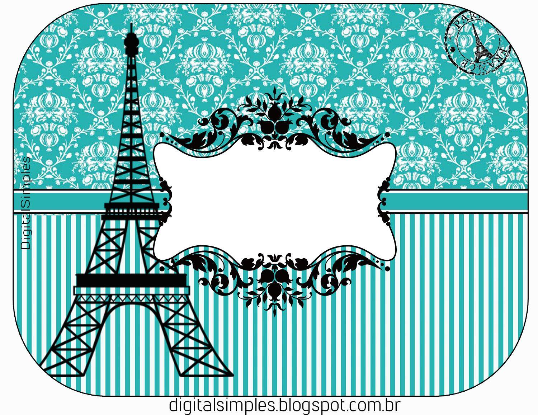 Festa Aniversário Paris Tiffany, com rótulos, caixinhas ...
