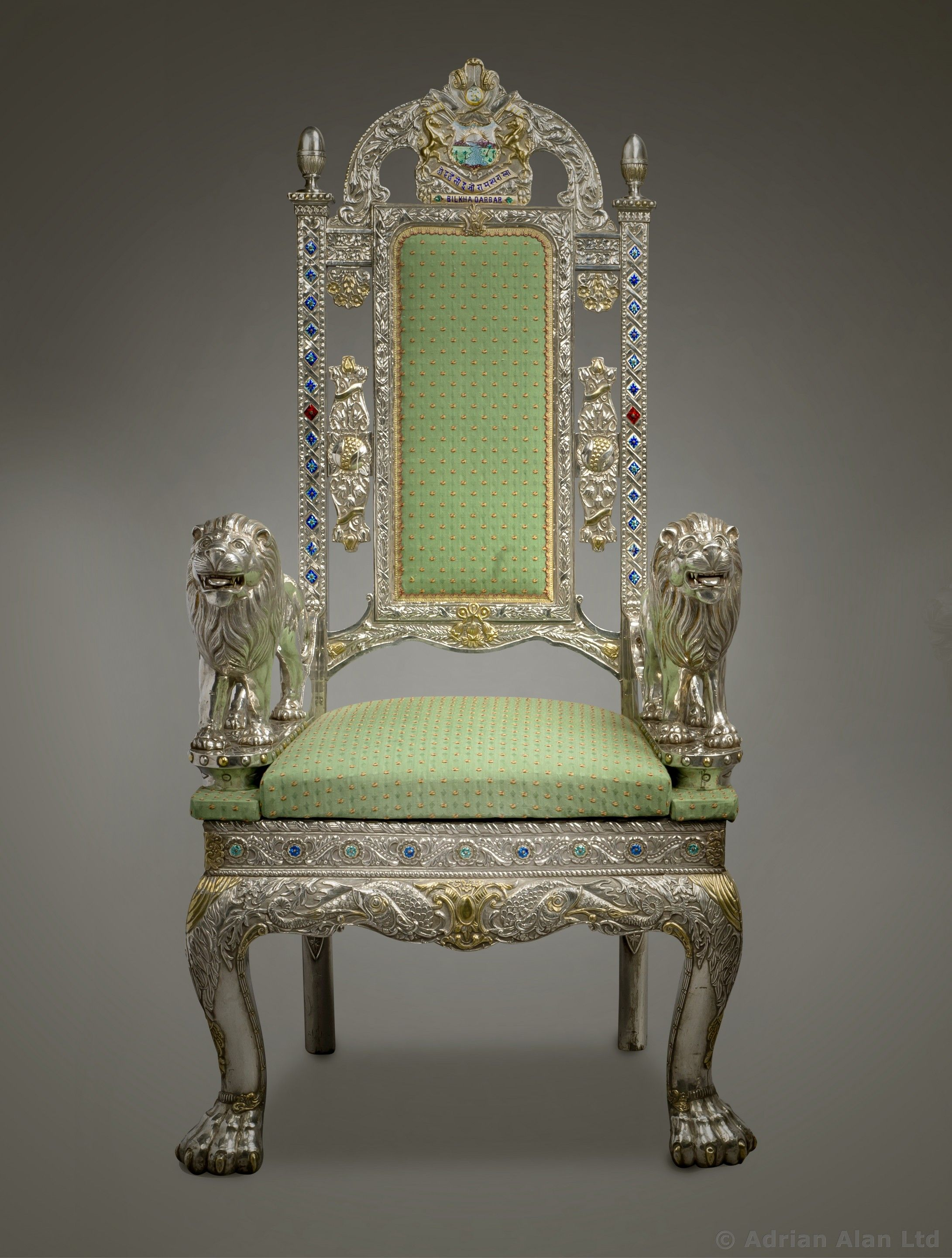 An Important Pair of AngloIndian Silver Veneered Throne