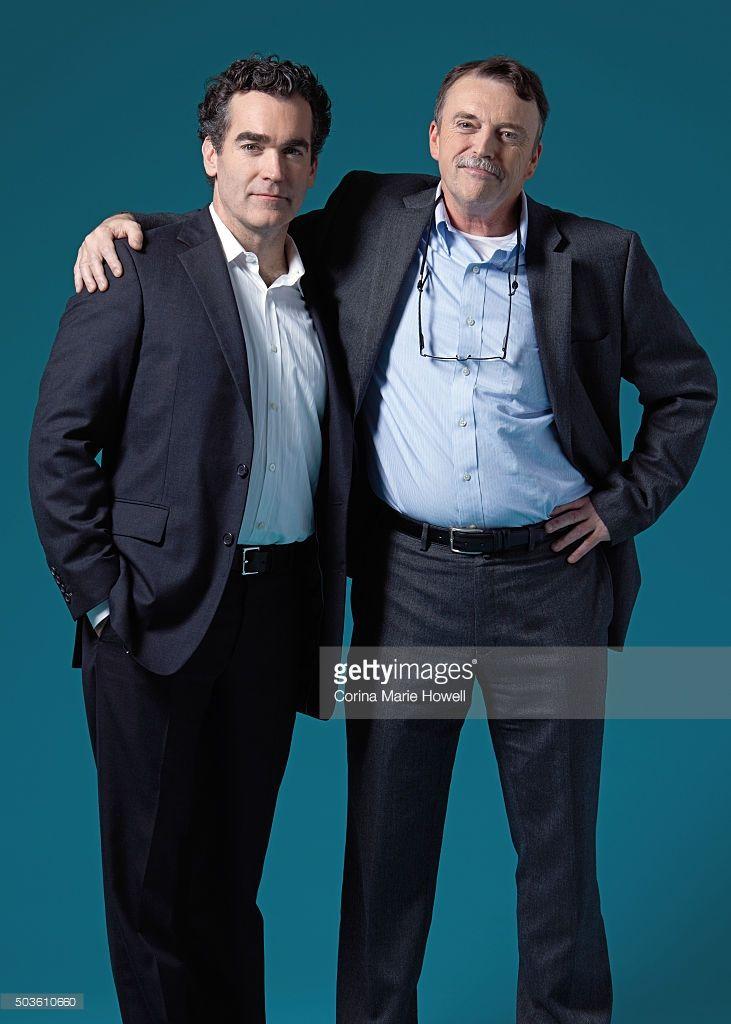Actor Brian d'Arcy James and Boston Globe Spotlight Reporter