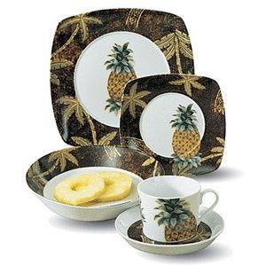 Tropical Hawaiian Dinnerware Dishes at MaiKai Hawaii ...