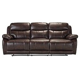 Toby Microfiber Leather-look Reclining Sofa | home ...