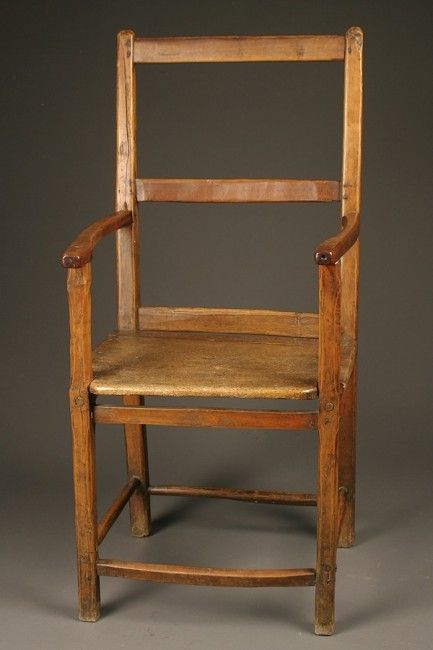 Early 18th Century French Provincial Chair In Fruitwood French