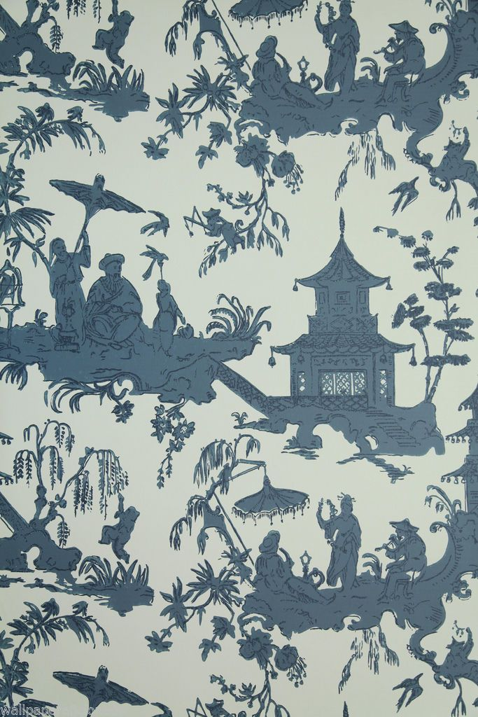 Vintage Historic Chinoiserie Wallpaper Quot Jardin Chinois
