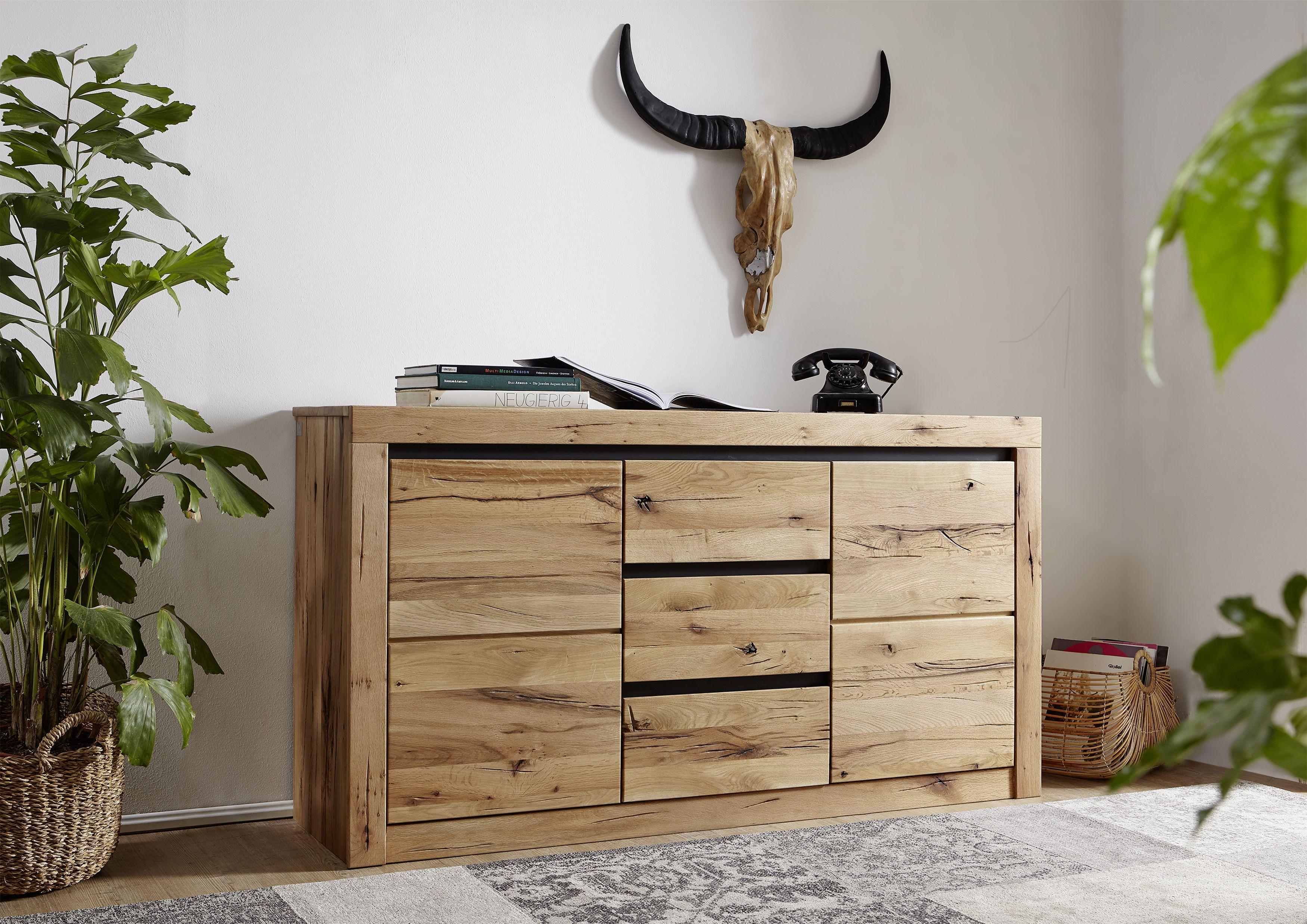 Eiche Mobel Versandfrei Kaufen Rustikales Wohnzimmer Holz Wohnzimmer Einrichtungsstil