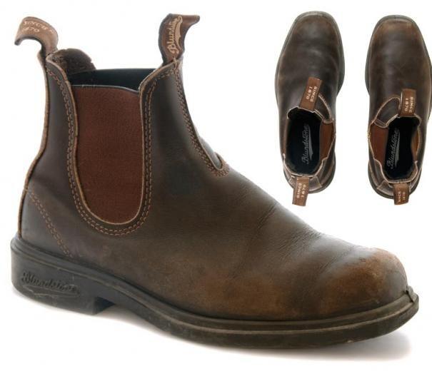 Blundstone 062 Stout Marron Unisexe Cuir Square-Toe Chelsea Boot